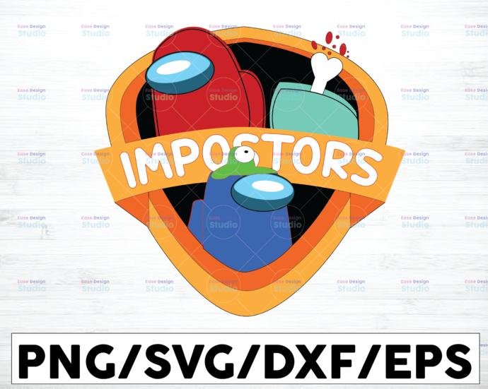 Imposter Impostor Among Game Us Sus svg png dxf eps digital download