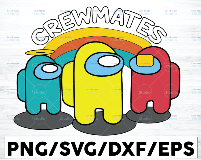 Crewmates Imposter Among Game Us Sus Funny Crewmates svg png dxf eps digital