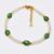 Ethiopian Opal Bracelet,Opal Beads Bracelet,Statement Bracelet,Tsavorite Garnet