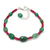 Emerald Beaded Bracelet,Emerald Bracelet,Emerald Jewelry,Ruby Beaded