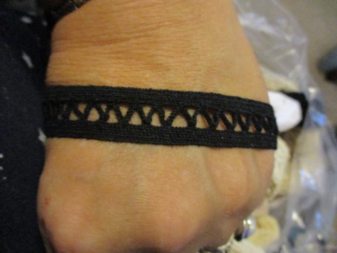 3yd of Black Cotton Crochet Trim