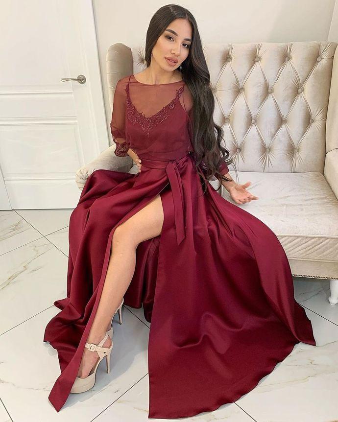 Charming O-Neck Prom Dresses,Long Prom Dresses,Cheap Prom Dresses, Evening Dress