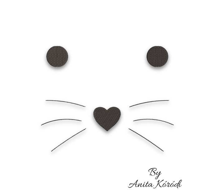 Cat face embroidery machine design pes file animal digital instant download