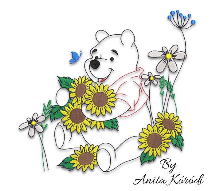 Winnie the pooh embroidery machine designs pes Disney pattern