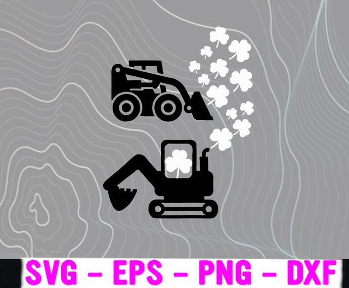 St Patricks Day Truck Set Gag SVG, Clover SVG, Shamrock SVG, Lucky Leaf SVG,