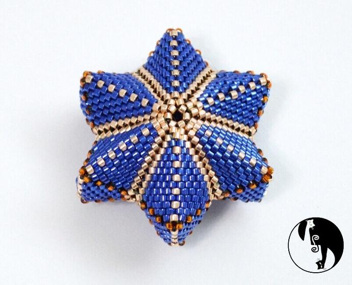 Vela Star - A geometric Peyote Star with 6 points