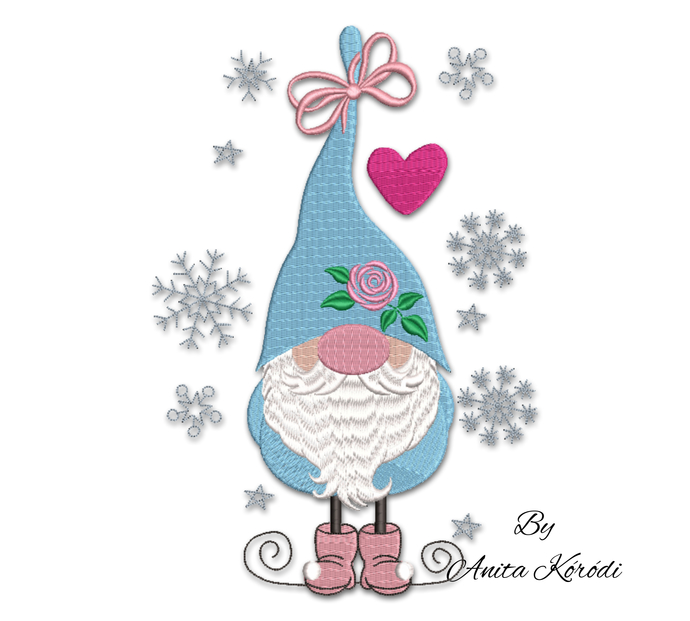 Christmas gnome embroidery machine designs pes instant digital download