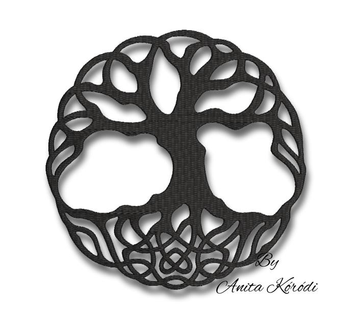 Tree of life embroidery machine designs pes symbol instant digital design