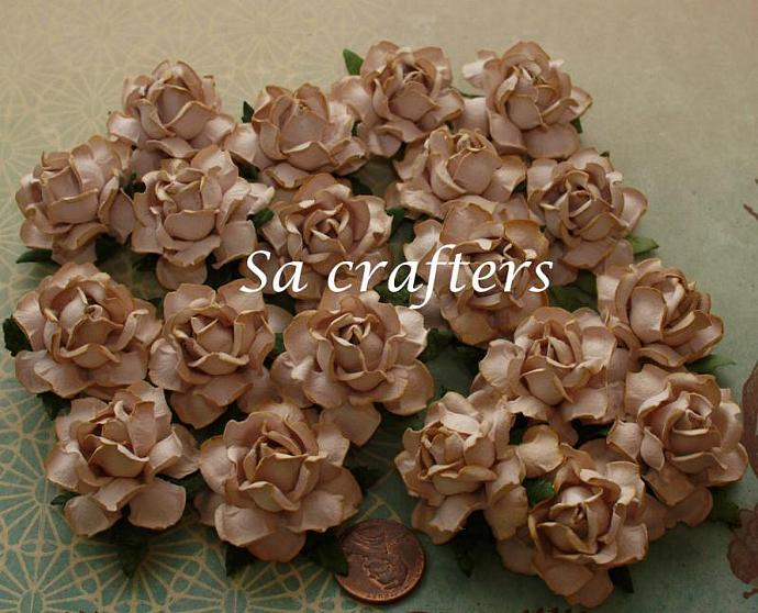 1 14 inches paper flowers light brown color 20 sacrafters 1 14 inches paper flowers light brown color 20 flowers mightylinksfo