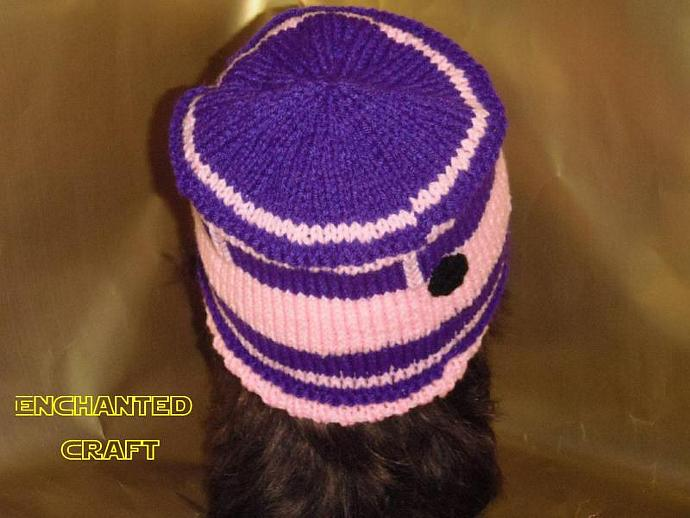 Geek Girl PINK Hand Knitted R2-D2 Hat for the fan of Star Wars