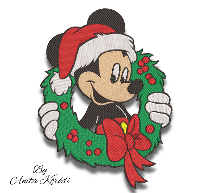 Mickey Mouse embroidery machine designs christmas pes disney pattern