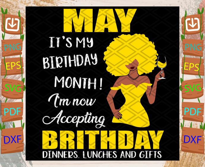 May Is My Birthday Month Svg, Birthday Svg, May Birthday Svg, May Svg, Born In