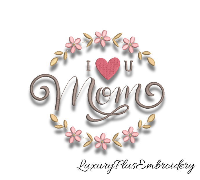 Mother's Day embroidery machine designs pes mom instant digital pattern