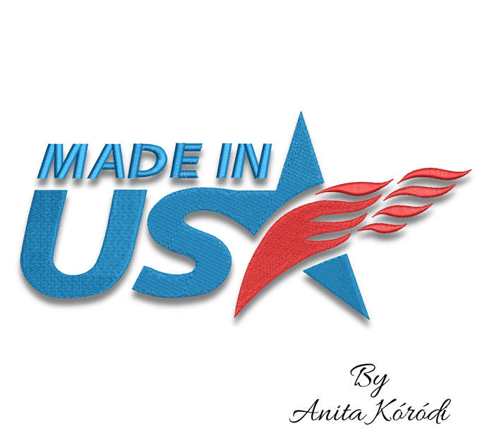 Usa embroidery machine designs 4th of July Made in Usa pes