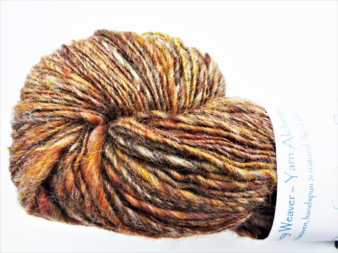 Handspun Yarn – Exmoor Blueface & Other Wools – Sport Weight – Brown HY347