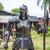 Knight warrior - 2.20 Metre Metal art sculpture - unique metal art decor