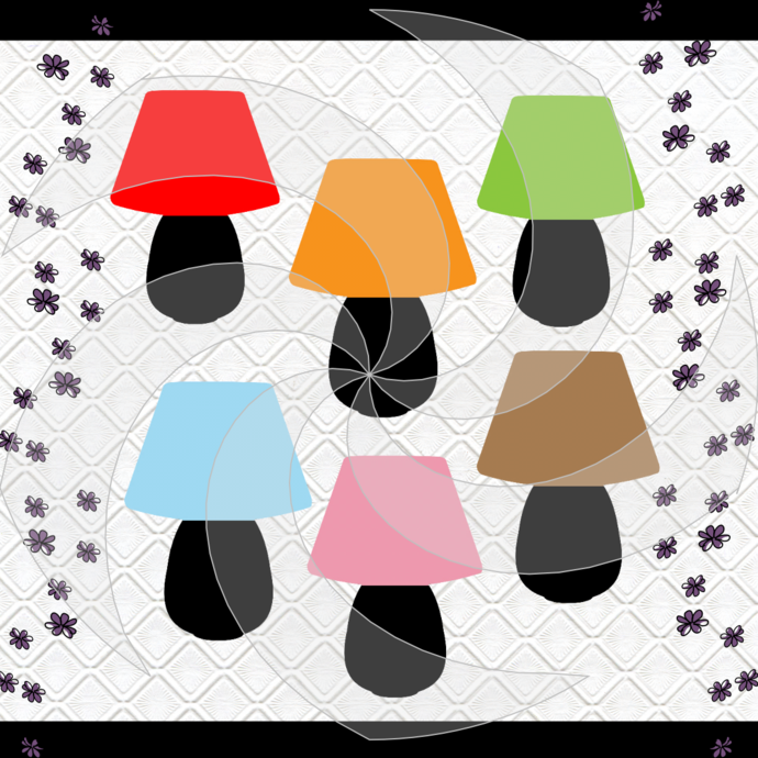 Color Lamps1-Digital ClipArt-PNG-Gift Tag-T
