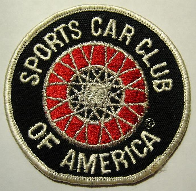 Vintage But New Sports Car Club Of America Iron On Patch