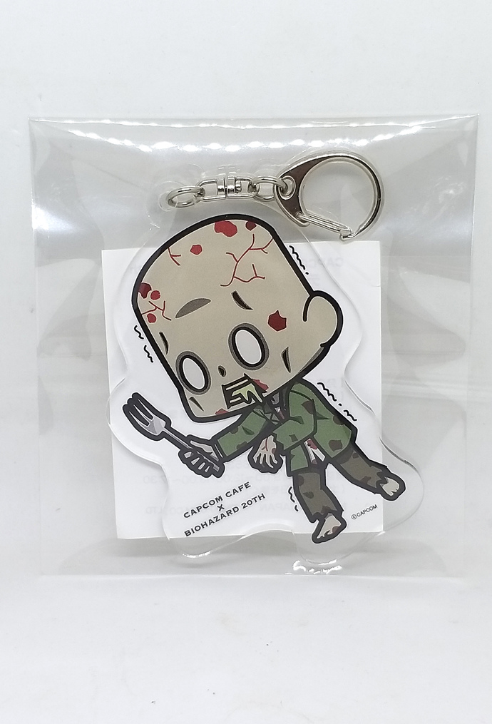 Capcom cafe BIOHAZARD 20th Zombie Acrylic Keychain - Japan Resident Evil