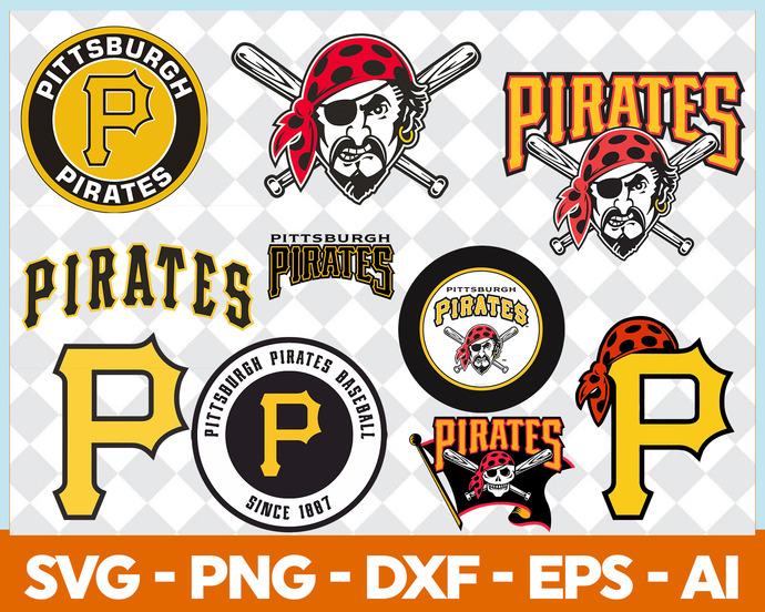 Pittsburgh Pirates MLB Baseball Svg Dxf Eps Pdf Png, Cricut, Cutting file,