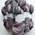 Handspun Yarn – 70% Bluefaced Leicester Wool 30% Silk – Sport Weight – Wine Red