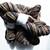 Handspun Yarn – 70% Bluefaced Leicester Wool 30% Silk – Sport Weight – Brown /