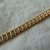 vintage gold clear crystals double row bracelet