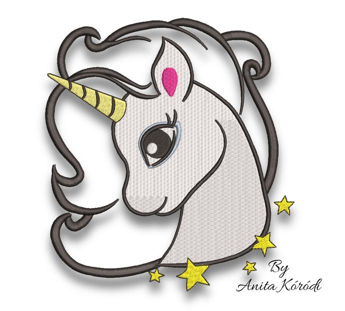 Unicorn embroidery machine design applique pes horse digital instant download
