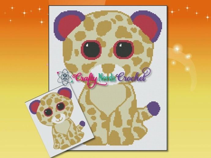 Baby Cheetah or Leopard Pattern Graph With Single Crochet Written