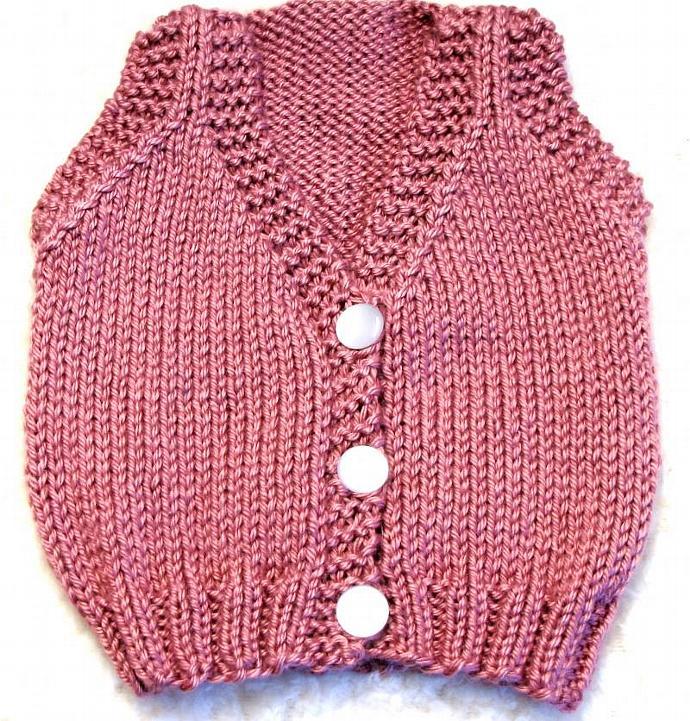 Baby Vest Knitting Pattern - SMALL - PDF