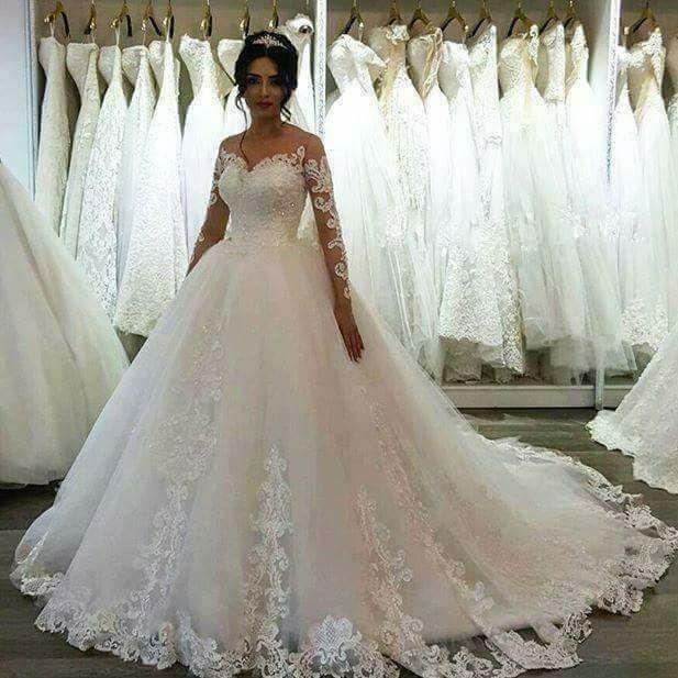 long sleeve lace applique wedding dresses 2021 vestido de noiva elegant princess