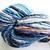 Handspun Yarn – Bluefaced Leicester Wool – Sport Weight – Blue / Peach / Teal /