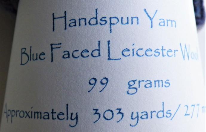 Handspun Yarn – Bluefaced Leicester Wool – Sport Weight – Purple / Oatmeal HY412