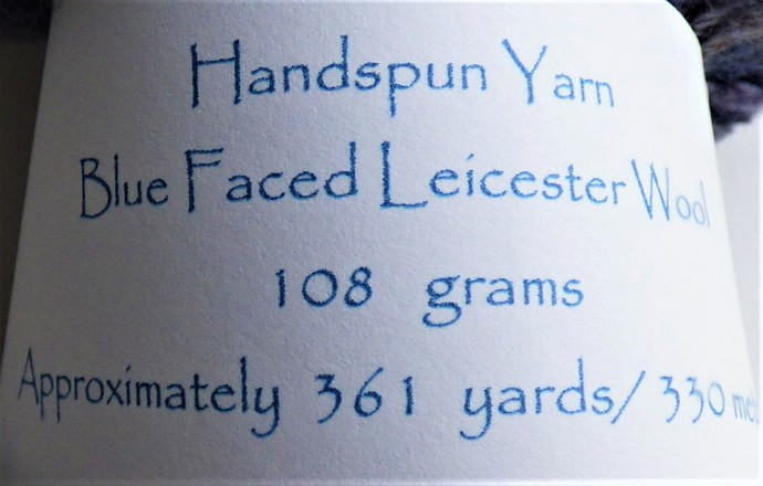 Handspun Yarn – Bluefaced Leicester Wool – Sport Weight – Blue / Oatmeal HY408