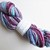 Handspun Yarn – 100% Blue Faced Leicester Wool – Sport Weight – Wine Red / Lilac