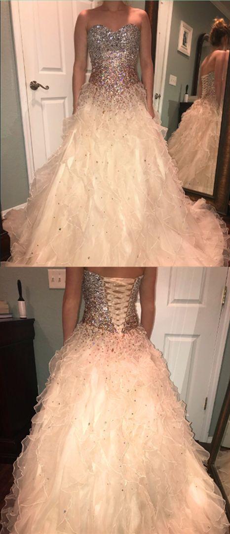 Sweetheart Beading A-Line Elegant Prom Dresses M10367