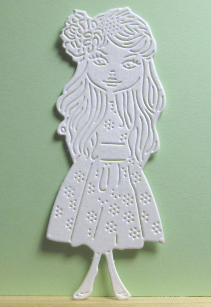 Girl with Flower Dress Metal Cutting Die