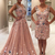 Blush Pink Tulle Beading Applique Two Piece Prom Dresses,DR0292