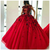 Red Ball Gown Prom Dress with Appliques, Floor Length Tulle Quinceanera