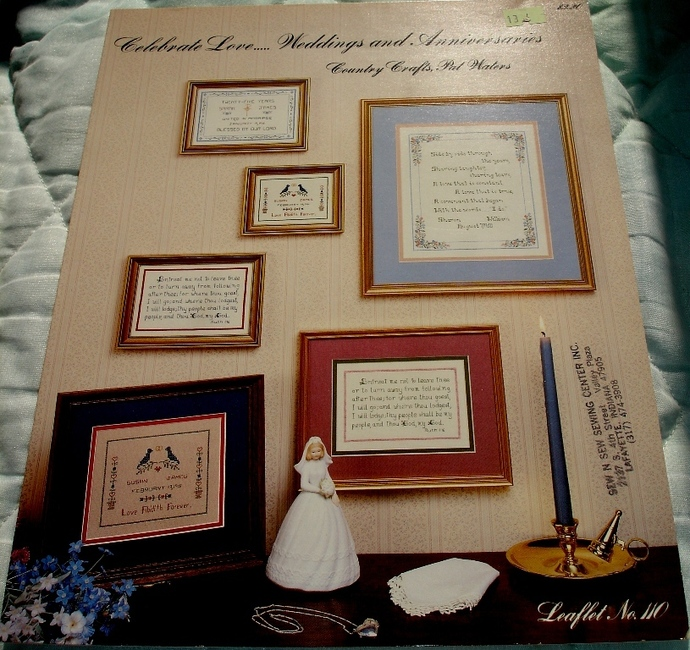 Celebrate Love Weddings and Anniversaries Cross Stitch Chart By Country Crafts,