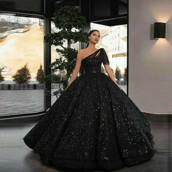Black Prom Dress Ball Gown Girls Evening Long Formal Ball Dress,DR0318