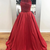 Chic Red Prom Dresses Long A-line Scoop Modest Cheap Prom Dress Evening