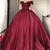 Luxury Ball Gown Wedding dress Burgundy Bridal Reception Dress Formal Prom Gown
