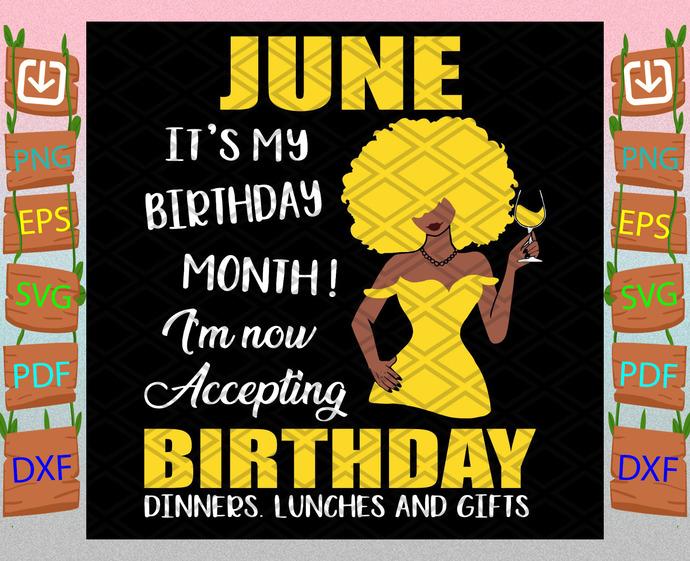 June Is My Birthday Month Svg, Birthday Svg, June Birthday Svg, June Svg, Born