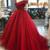 Burgundy Princess Prom Dress, Evening Dress ,Winter Formal Dress ,DR0326