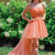 straps high low prom dress with stars