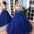 Ball Gown Floor-length Lace Royal Blue Prom Dresses Bridal Gown ,DR0338