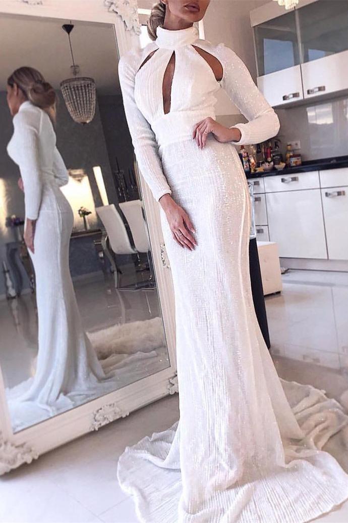 Prom Dresses long White Prom Dress ,DR0341