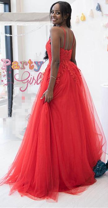 Sexy Prom Dress,Spaghetti Straps Prom Dress,A-Line Prom Dress,Long Prom