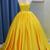 Yellow Prom Dress, Yellow Formal Graduation Evening Dress ,DR0345